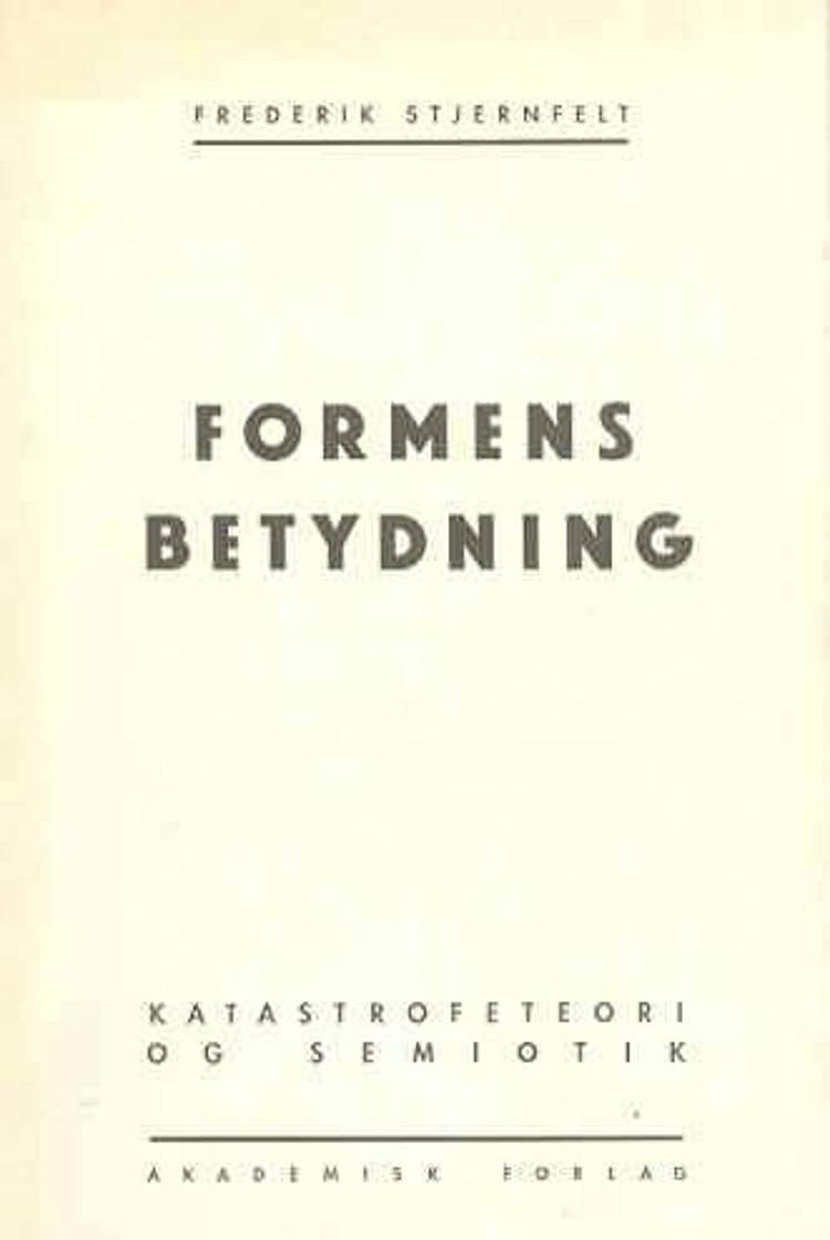 Formens betydning af Frederik Stjernfelt