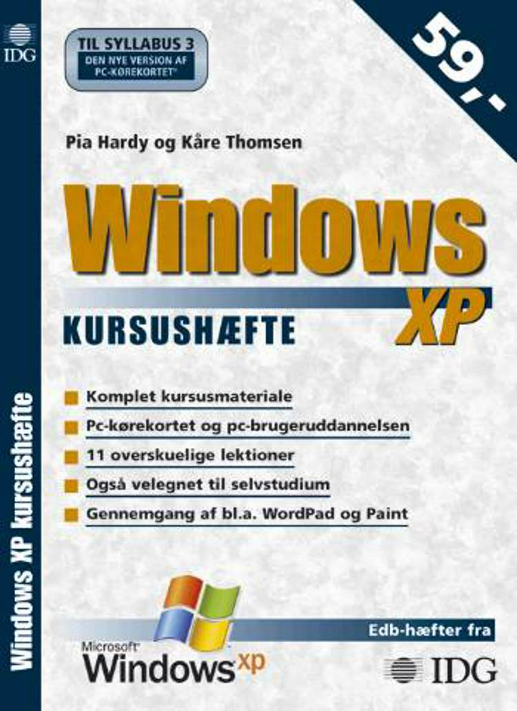 Windows XP kursushæfte af Kåre Thomsen og Pia Hardy