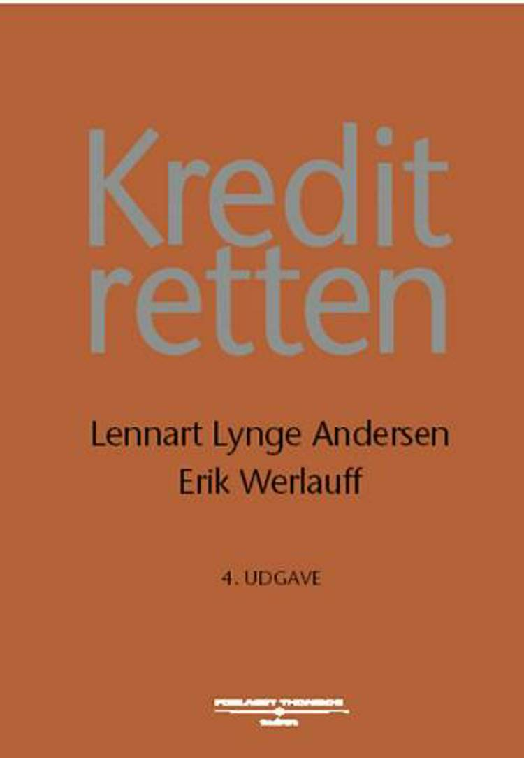 Kreditretten af Erik Werlauff, L. Lynge Andersen og Lennart Lynge Andersen