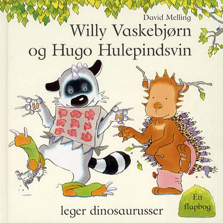 Willy Vaskebjørn og Hugo Hulepindsvin leger dino