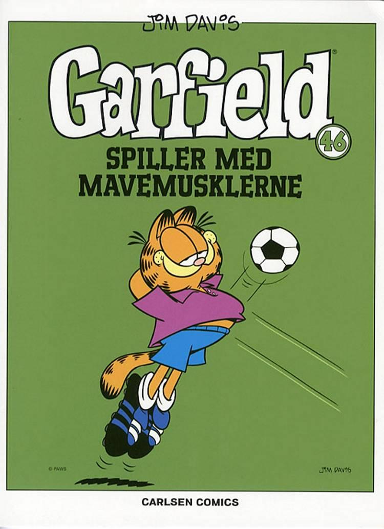 Garfield spiller med mavemusklerne af Jim Davis