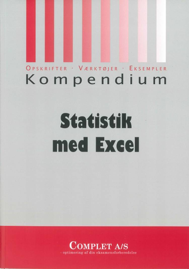 Complet kompendium i statistik med Excel af Chresten Koed og Niels Jørgensen