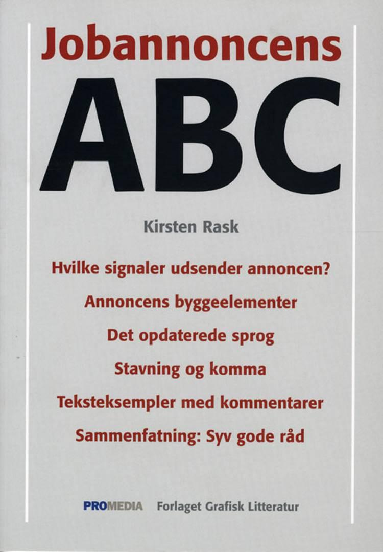 Jobannoncens ABC af Kirsten Rask