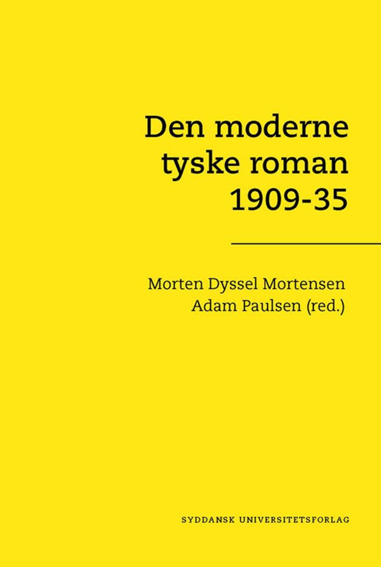 Den moderne tyske roman 1909-35