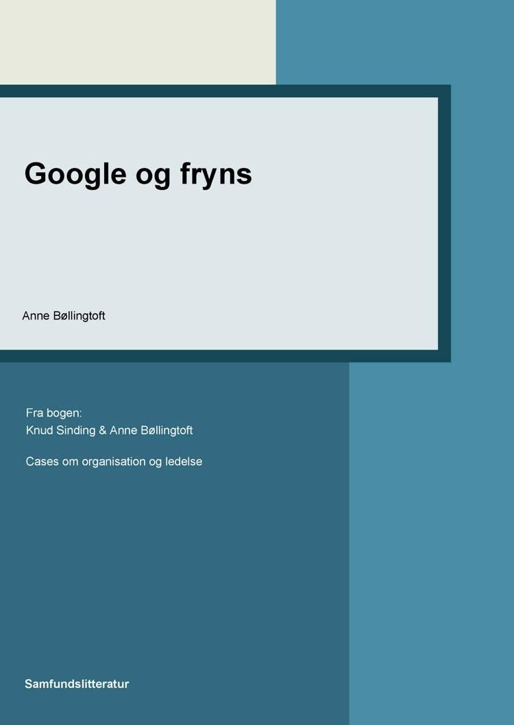 Google og fryns af Anne Bøllingtoft