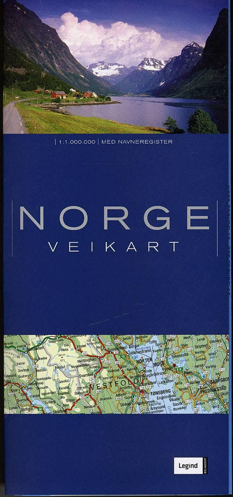 Norge veikart - Colli á 20 stk.