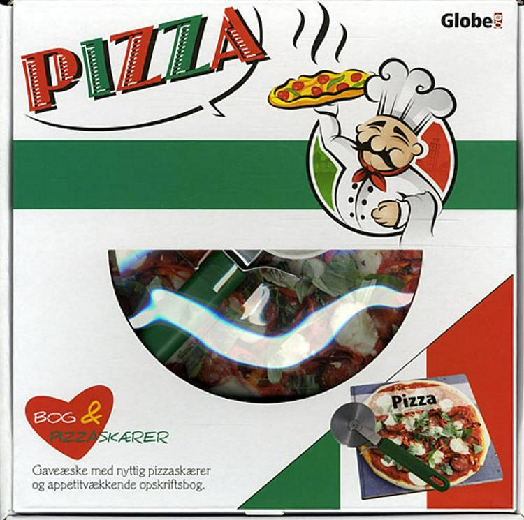 Pizza - boks, med pizza-skærer