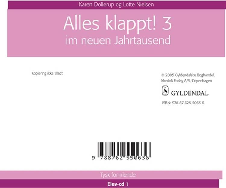 Alles klappt! 3. - Elev CD af Karen Dollerup