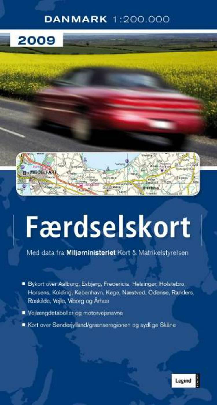 Færdselskort Danmark 2009