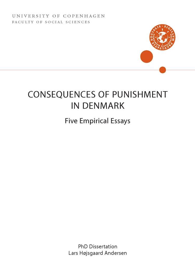 CONSEQUENCES OF PUNISHMENT IN DENMARK af Lars Højsgaard Andersen
