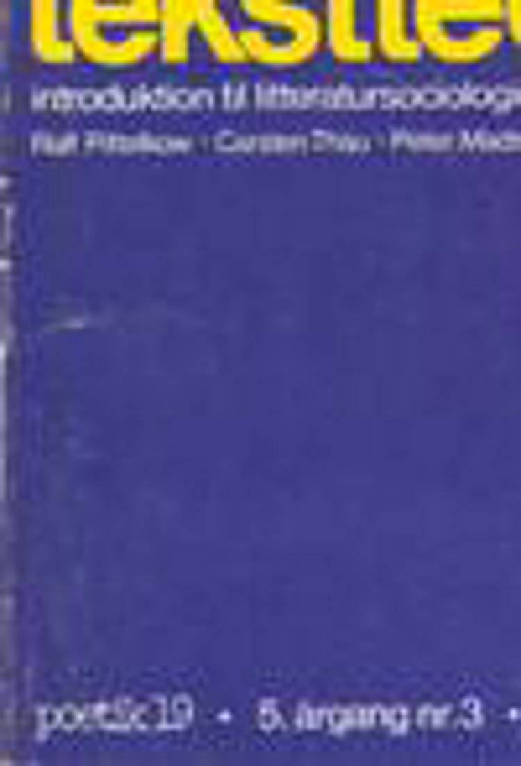 Samfundsteori og tekstteori af Carsten Thau, Peter Madsen og Ralf Pittelkow