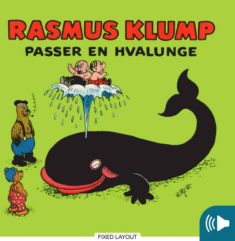 Rasmus Klump passer en hvalunge af Vilhelm Hansen og Carla Hansen