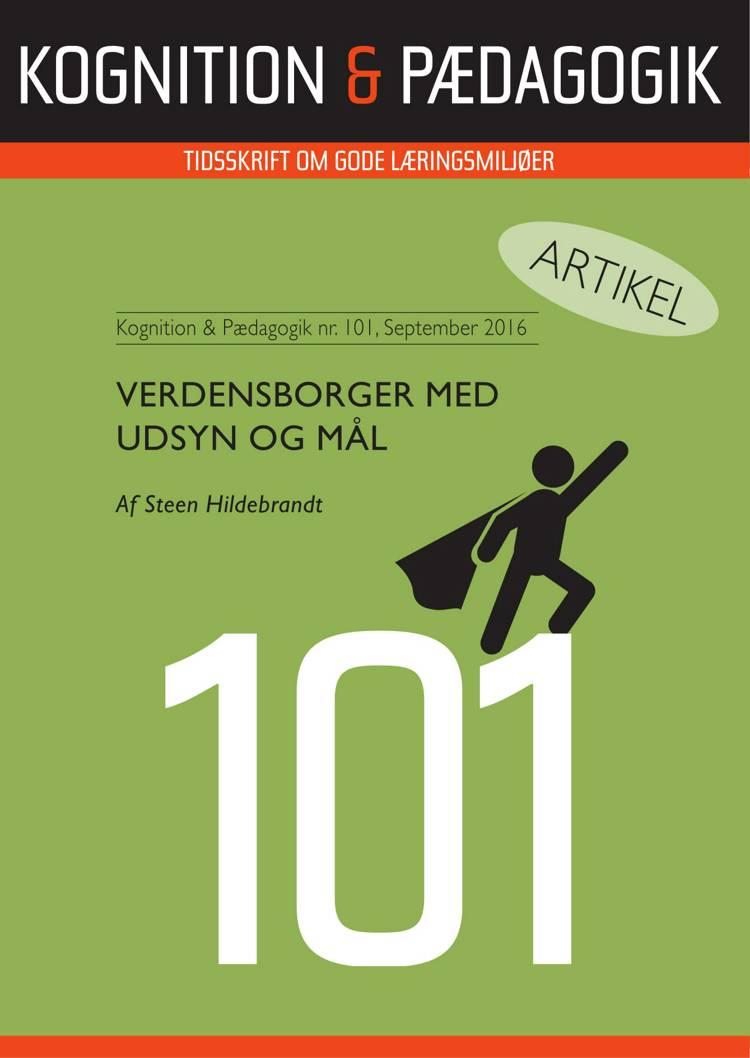 Verdensborger med udsyn og mål af Steen Hildebrandt