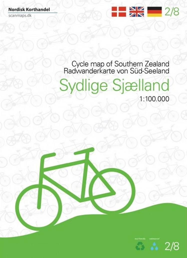 Cykelkort Sydlige Sjælland, Møn, Lolland og Falster