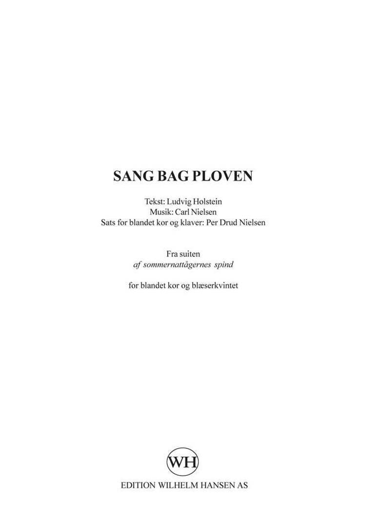 Sang bag ploven af Carl Nielsen og Per Drud Nielsen