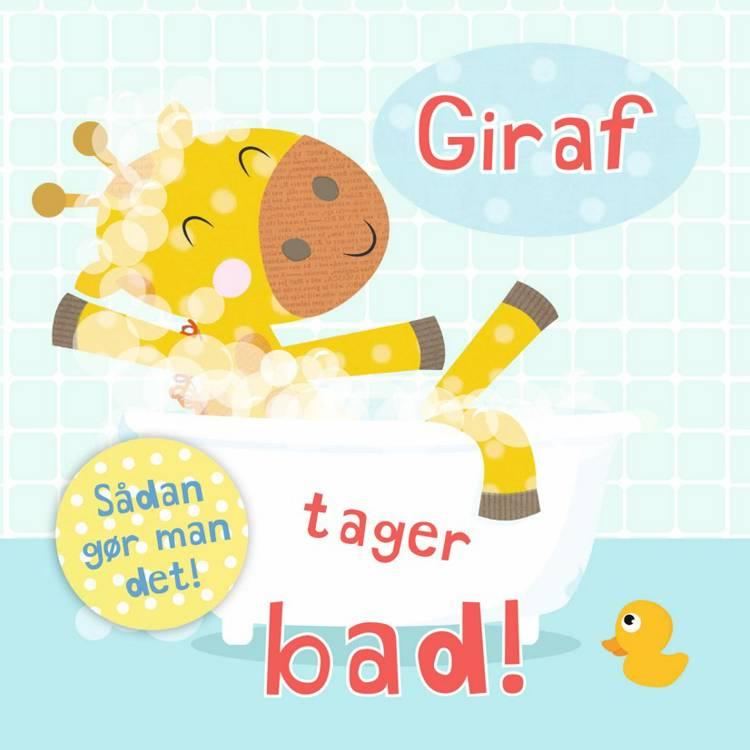 Giraf tager bad!