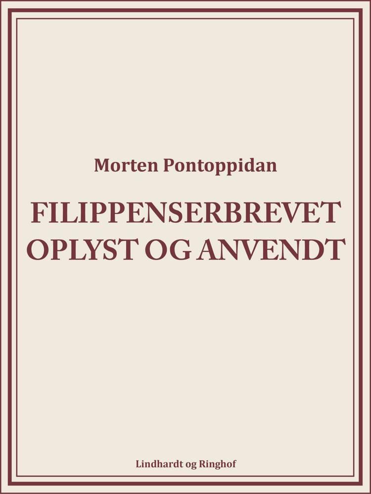 Filippenserbrevet oplyst og anvendt af Morten Pontoppidan