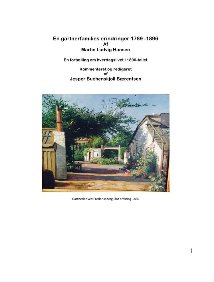 En gartnerfamilies erindringer af Jesper Bærentsen