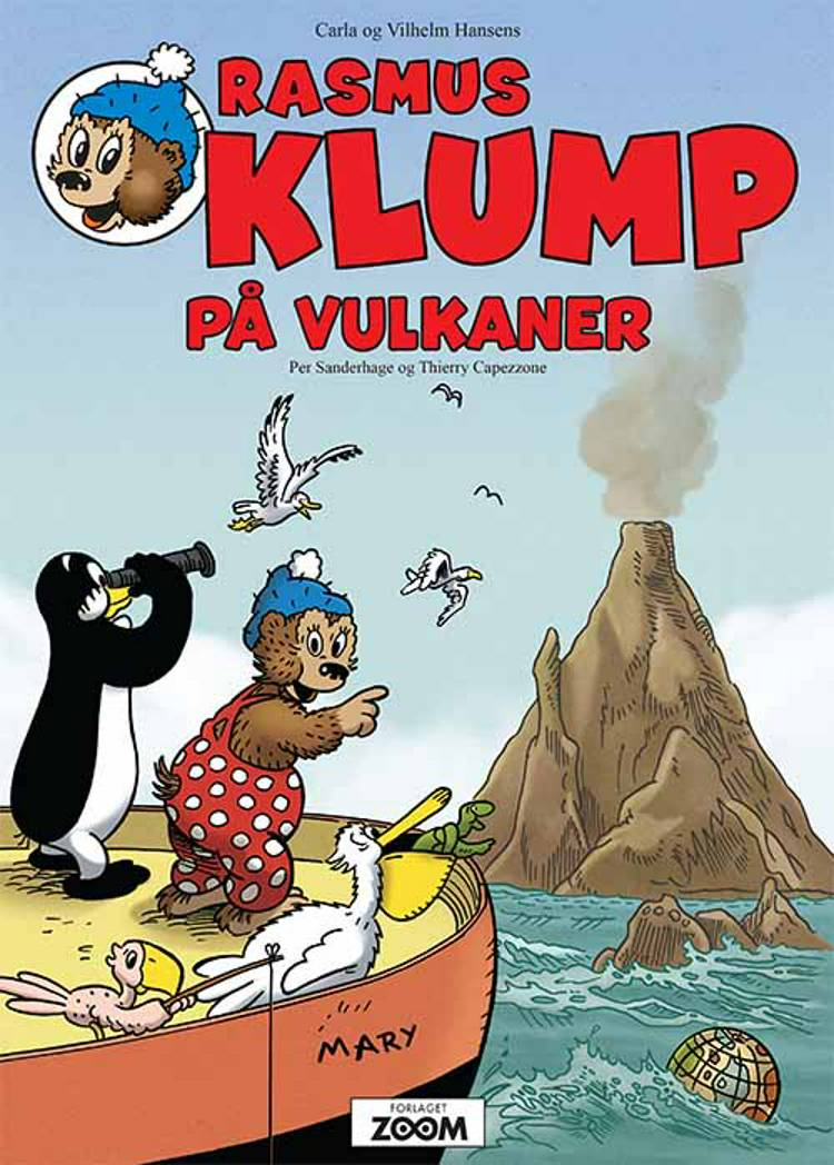 Rasmus Klump på vulkaner af Per Sanderhage og Thierry Capezzone