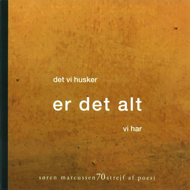 70 strejf af poesi af Søren Marcussen