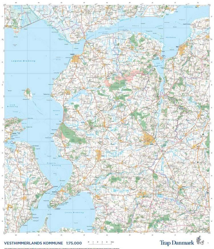 Trap Danmark: Kort over Vesthimmerlands Kommune af Trap Danmark