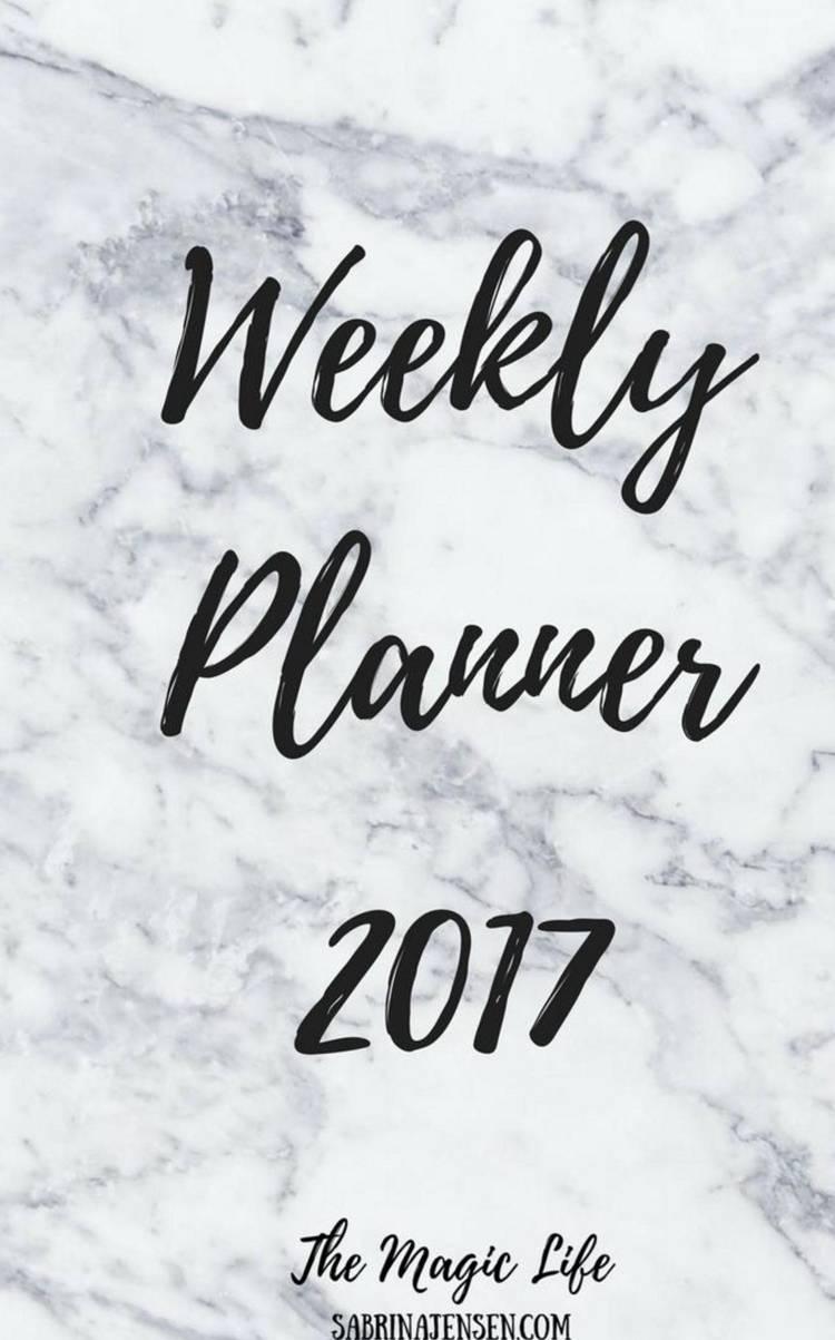 The Magic Life Weekly Planner 2017 af Sabrina Jensen