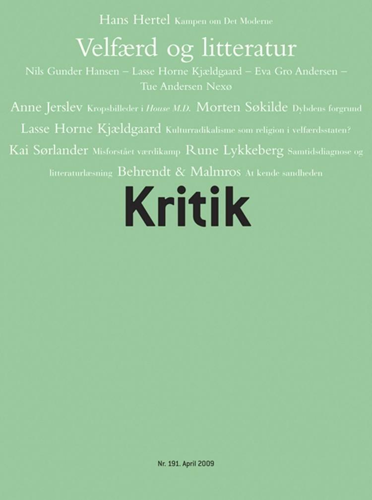 Kritik, 42. årgang, nr. 191 af Lasse Horne Kjældgaard og Frederik Stjernfelt