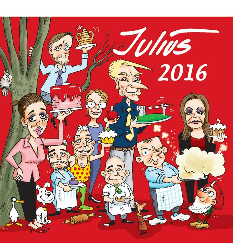Julius Tegninger 2016 af Jens Julius Hansen