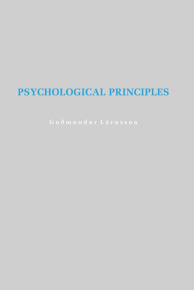 Psychological principles af Guðmundur Lárusson