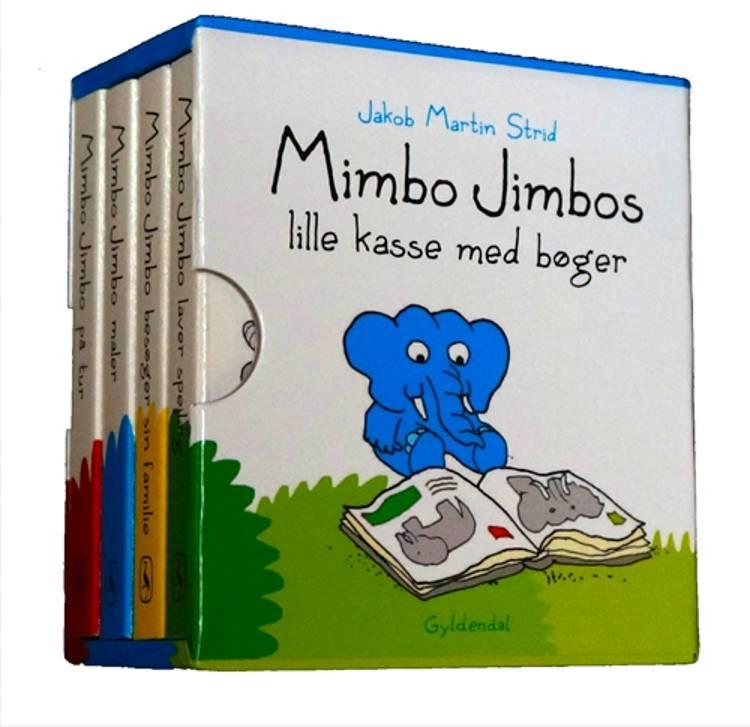 Mimbo Jimbos lille kasse med bøger af Jakob Martin Strid