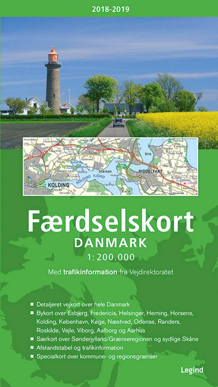 Færdselskort Danmark 2018-2019