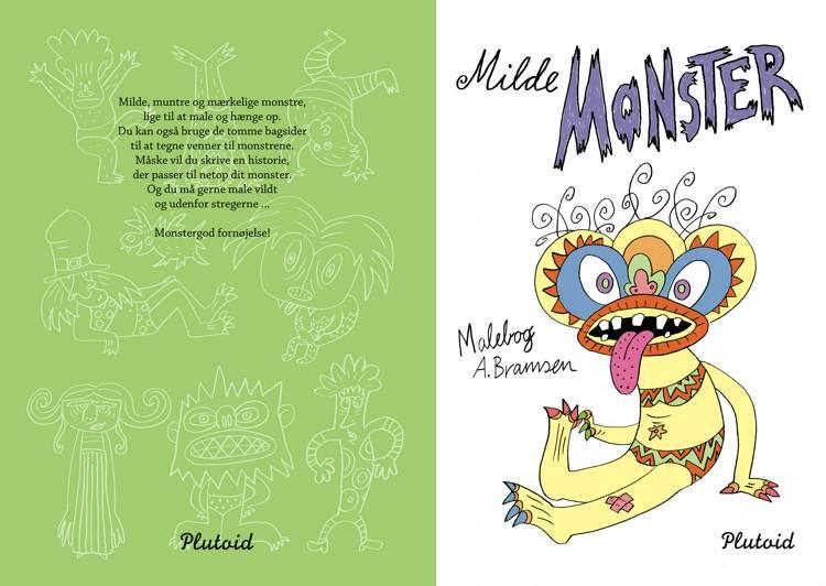 Milde Monster malebog af Annemette Bramsen