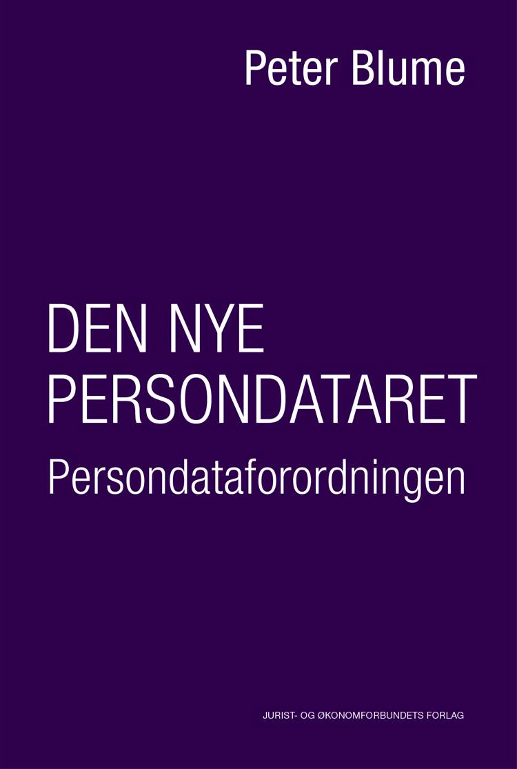 Den nye persondataret af Peter Blume