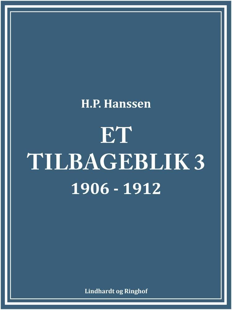 Et tilbageblik 3 af H.P. Hanssen og H.p. Hanssen