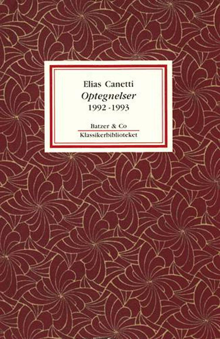 Optegnelser 1992-1993 af Elias Canetti