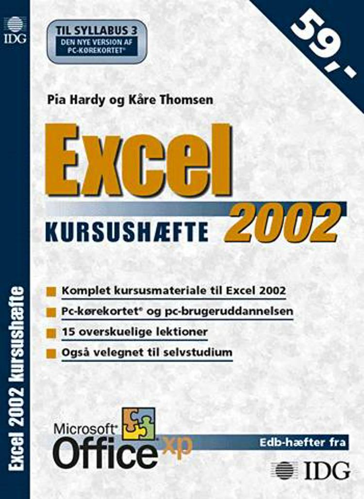 Excel 2002 kursushæfte af Kåre Thomsen og Pia Hardy