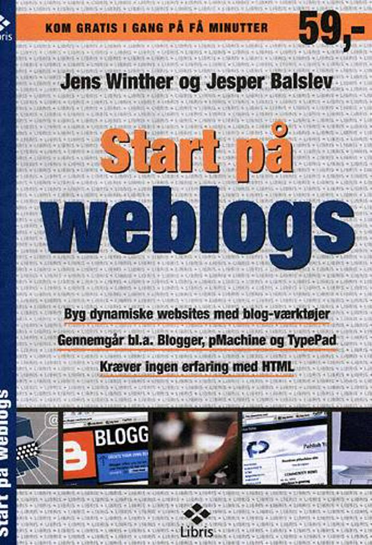 Start på weblogs af Jesper Balslev og Jens Winther