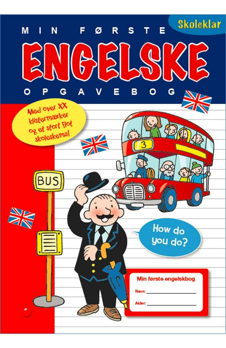 Min første engelske opgavebog - med ordbog og stickers