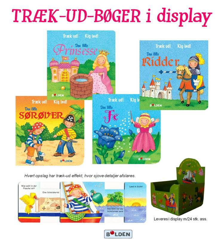 Træk-ud-bøger 1-4 (display med 24 stk. ass.)