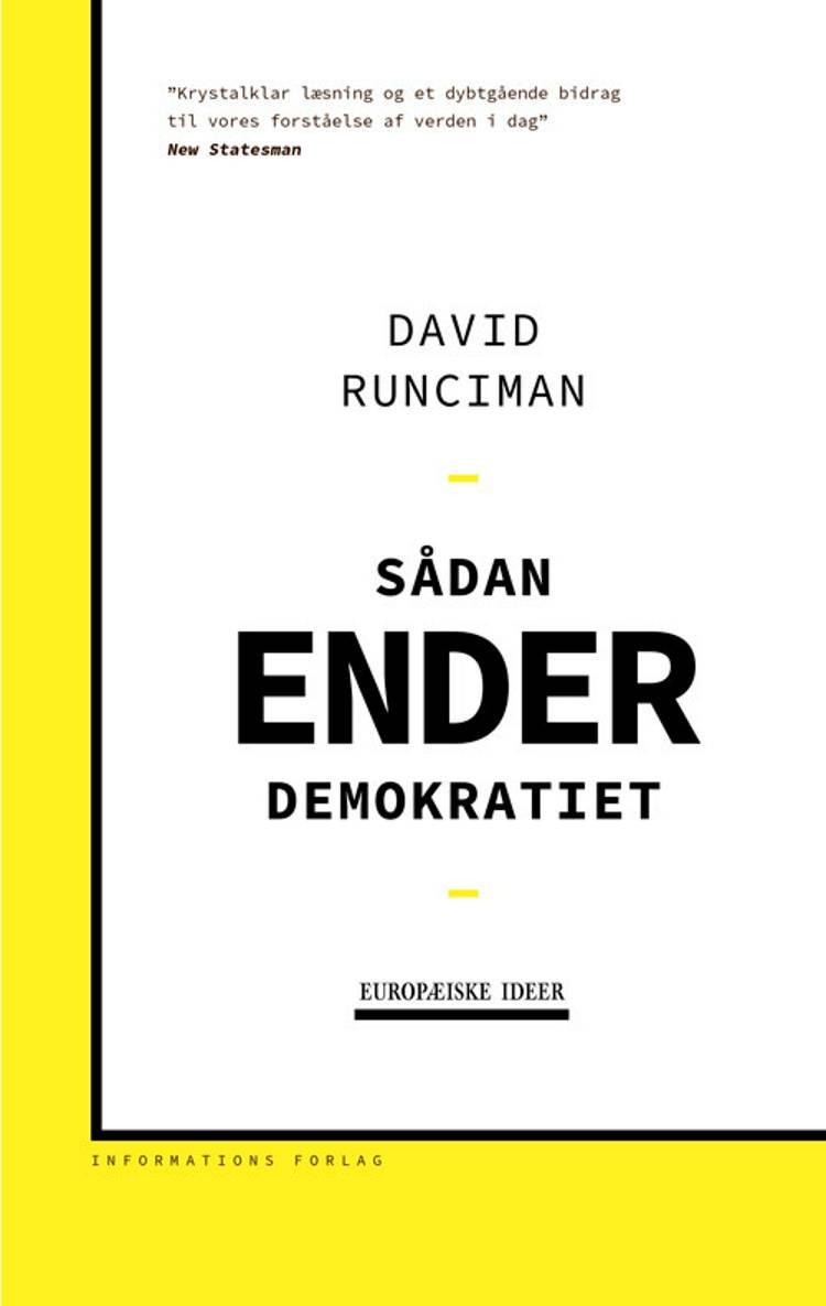 Sådan ender demokratiet af David Runciman