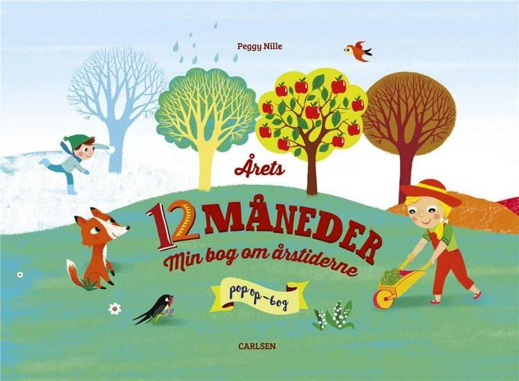 Årets 12 måneder, Min bog om årstiderne, pop op-bog, børnebog,