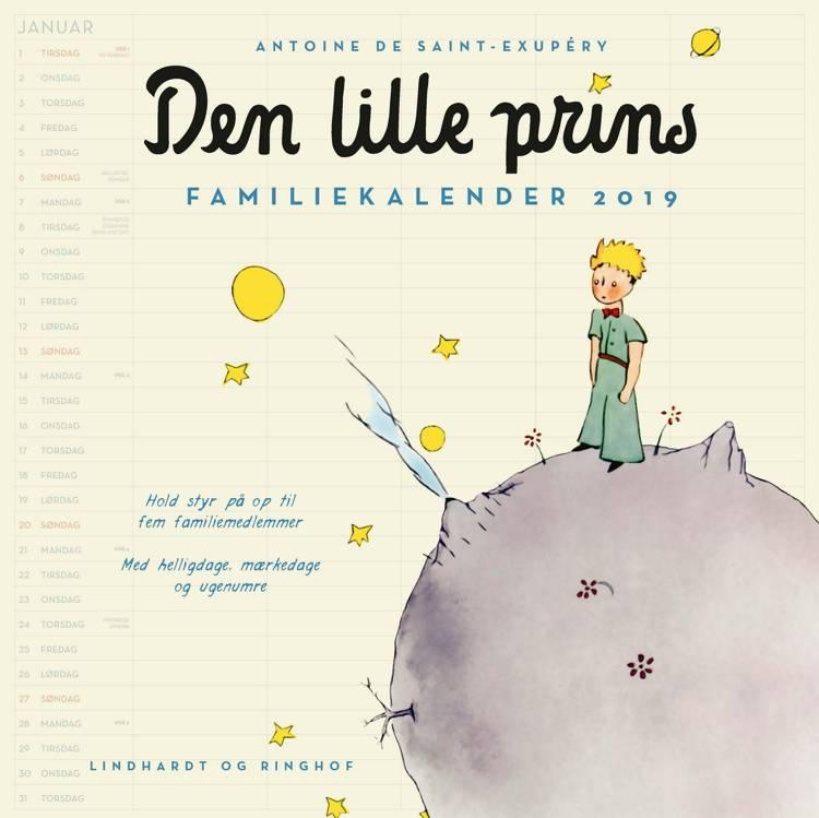 Den lille prins, familiekalender 2019 af Antoine de Saint-Exupéry