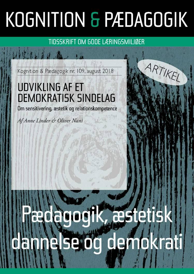 Udvikling af et demokratisk sindelag af Anne Linder og Oliver Nani