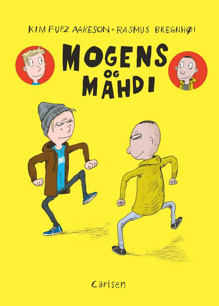 Mogens og Mahdi, Kim Fupz Aakeson, Rasmus Bregnhøi, tegneserie, sjov tegneserie, humoristisk børnebog, børnebog,
