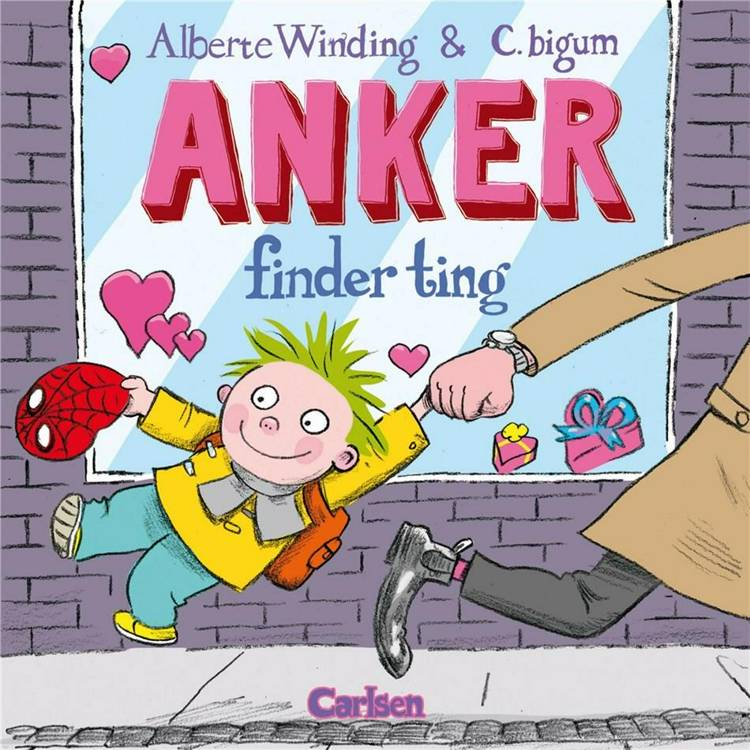 Anker finder ting, Alberte Winding, børnebog, billedbog, Claus Bigum