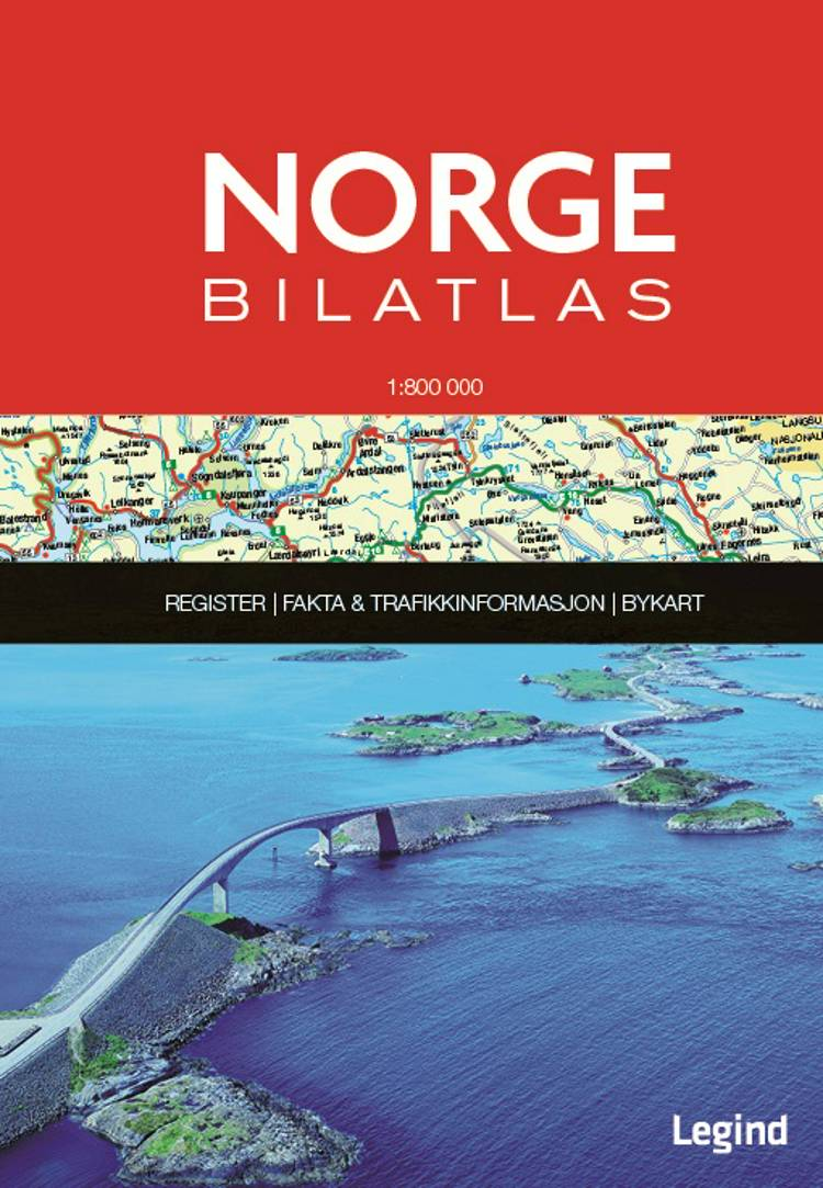 Norge Bilatlas 1:800.000