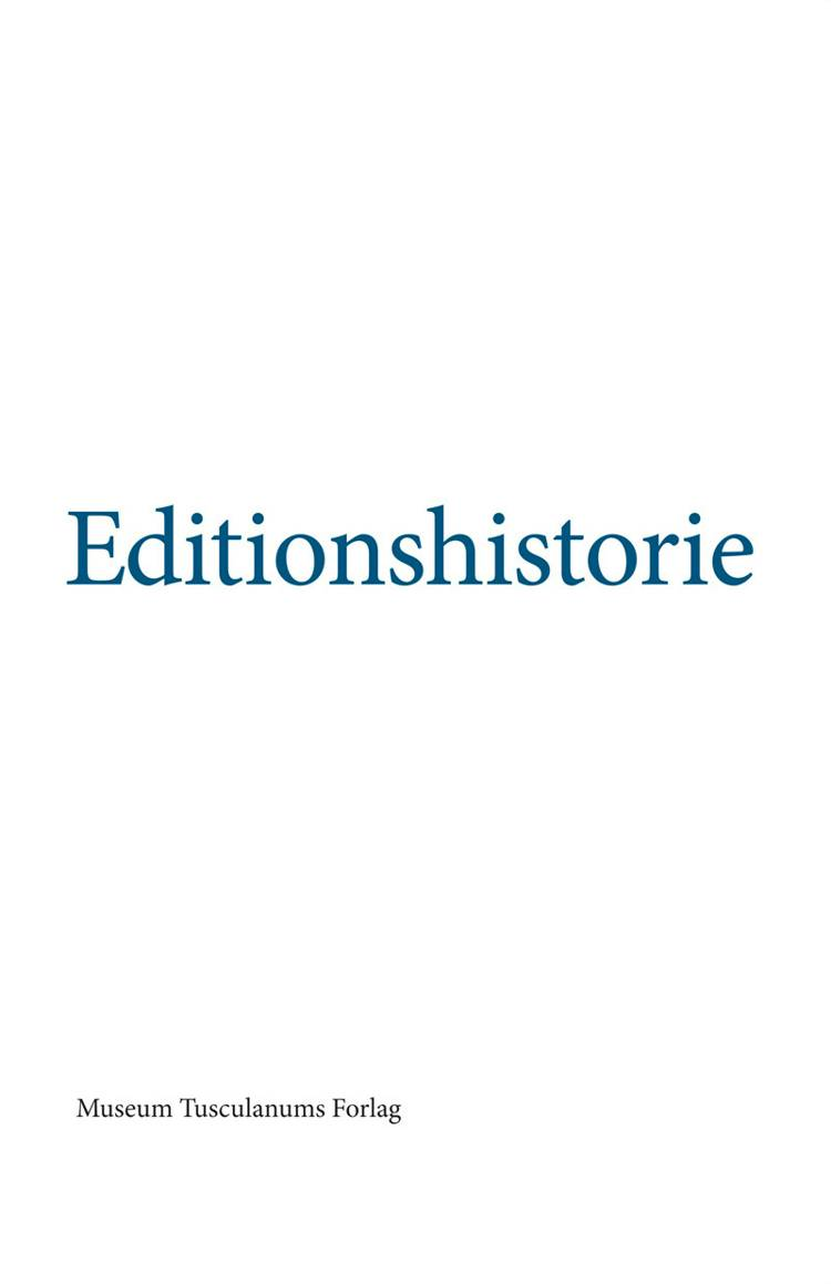 Editionshistorie