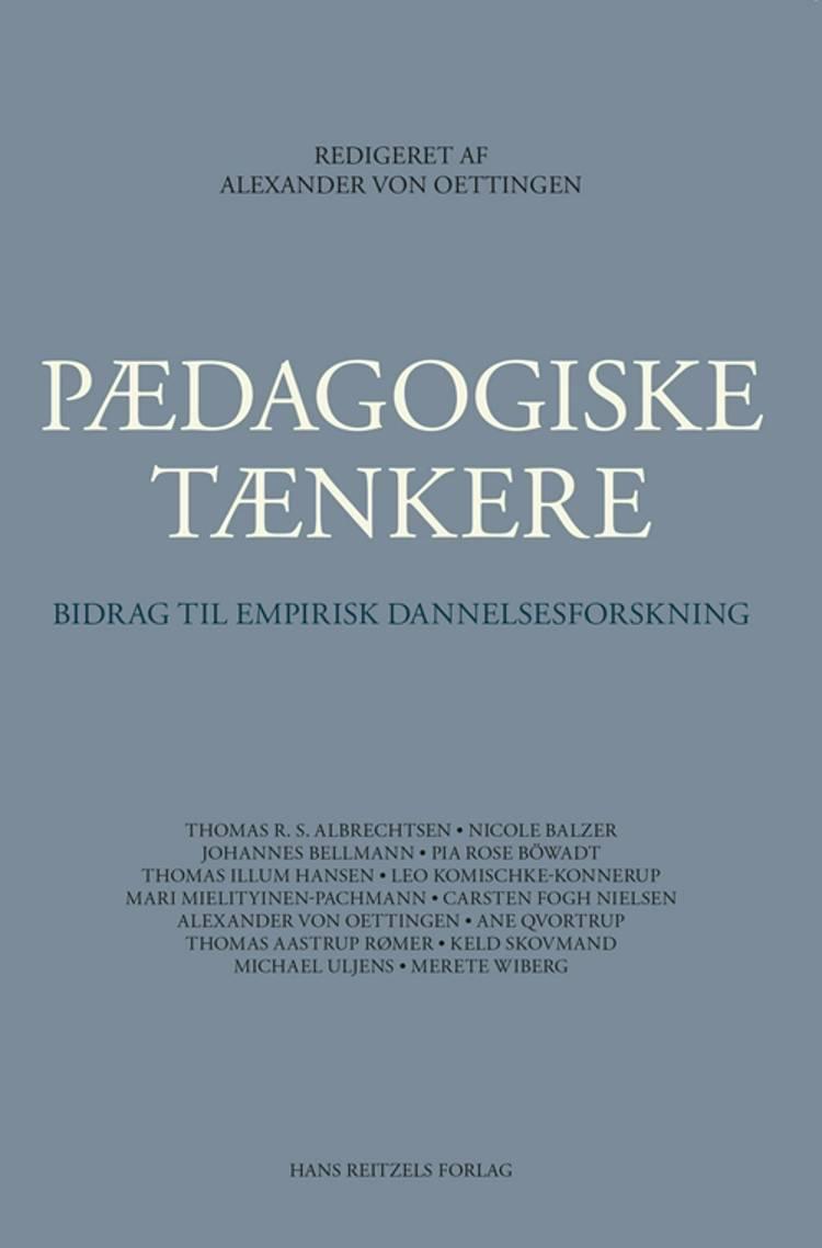 Pædagogiske tænkere af Thomas Illum Hansen, Pia Rose Böwadt og Carsten Fogh Nielsen m.fl.