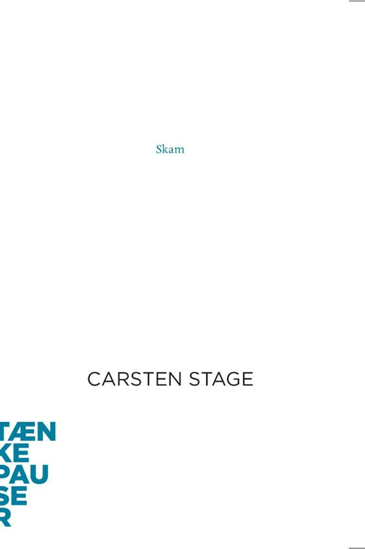Skam af Carsten Stage