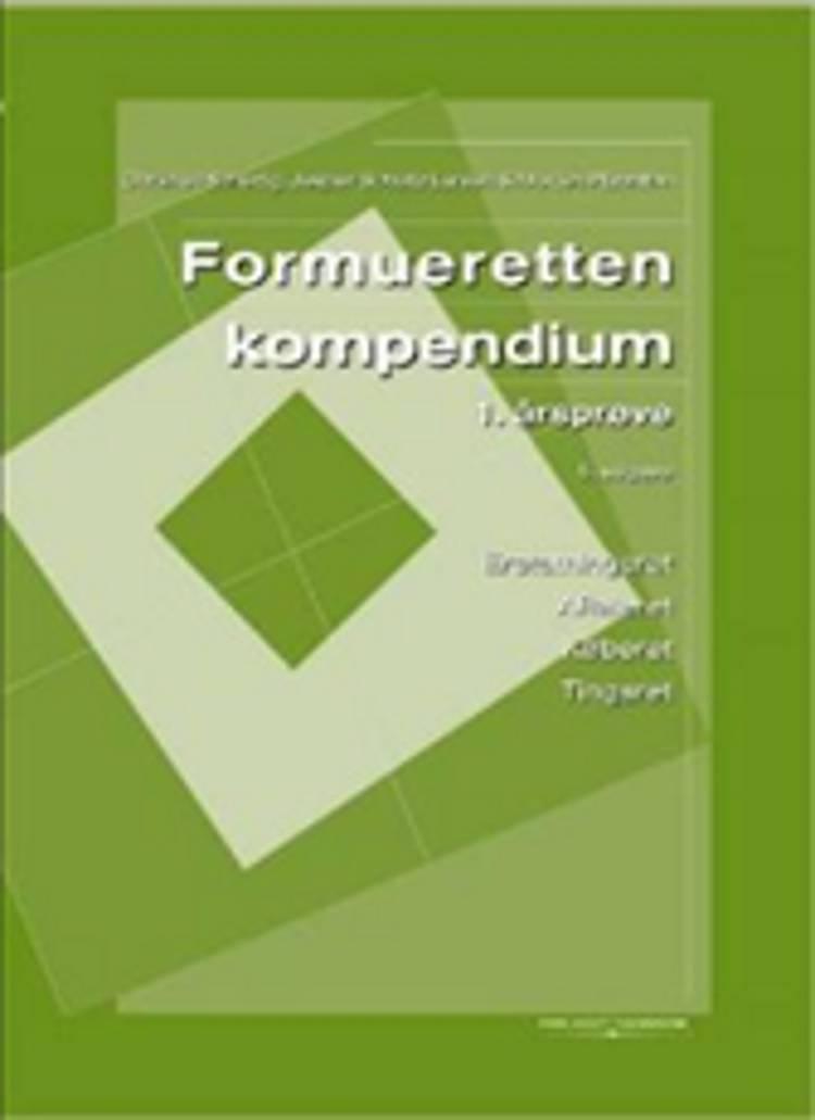 Formueretten, 1. årsprøve af Jesper Schultz Larsen, Christian Scherfig og Morten Plannthin